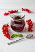Currant Jam In A Jar