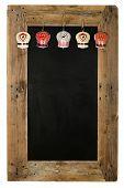 Chalkboard Christmas Restaurant Menu Board Reclaimed Wood Tin Bells Decoration