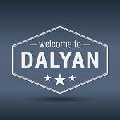 Welcome To Dalyan Hexagonal White Vintage Label