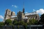 Notre Dame de Paris. Gothic cathedral on the eastern half of the �le de la Cité in Paris, France.