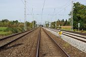 Long And Straight Railway Tracks