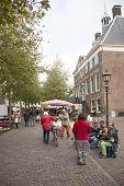 Street Musicians On The Market In Wijk Bij Duurstede