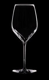 picture of wine-glass  - Empty wine glass silhouette over black  - JPG