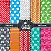 stock photo of shoe-box  - Seamless patterns and textures - JPG