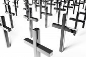 picture of inri  - Gray Crosses on white background  - JPG