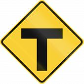 pic of intersection  - United States road warning  - JPG