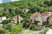 stock photo of naturel  - Houses in Saint Circ Lapopie in France - JPG