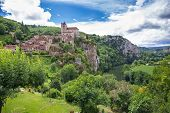 picture of naturel  - Village of Saint Circ Lapopie in France on a summer day - JPG
