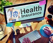 picture of personal safety  - Health Insurance Safety Healthcare Protection Office Working Concept - JPG