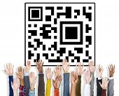 pic of qr-code  - QR Code Identity Marketing Data Encryption Concept  - JPG