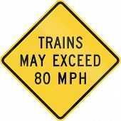picture of mph  - US road warning sign - JPG