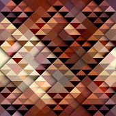picture of aztec  - Seamless geometric abstract pattern in aztecs style on brown background - JPG
