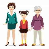 picture of grandmother  - Three ages of women - JPG