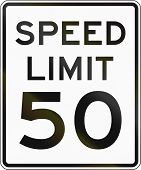 foto of mph  - United States speed limit sign 50 mph - JPG