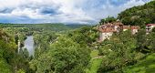 image of naturel  - Saint Circ Lapopie and Lot River in France - JPG