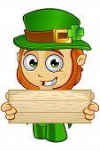 image of leprechaun  - A cartoon illustration of a cartoon little Leprechaun character - JPG