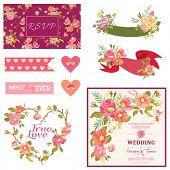 image of bridal shower  - Floral Wedding Set  - JPG
