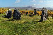 stock photo of megaliths  - Megalithic stone circle in  Beara Peninsula - JPG