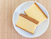 stock photo of sponge-cake  - Close  - JPG