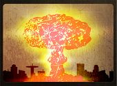 stock photo of nuke  - Illustration of a nuclear explosion - JPG