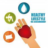 Постер, плакат: healthy lifestyle
