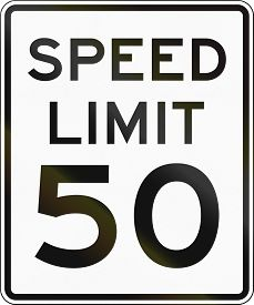 pic of mph  - United States speed limit sign 50 mph - JPG