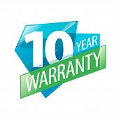 Vector Logo 10 Years Warranty poster