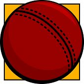 picture of cricket ball  - cricket ball - JPG