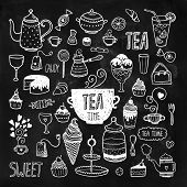 foto of teapot  - Hand drawn tea time collection - JPG