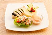 foto of mashed potatoes  - chicken with mashed potatoes for kids menu - JPG