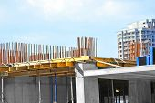 stock photo of reinforcing  - Reinforcement and equipment on construction site work - JPG