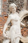 stock photo of vicenza  - White stone statues and sculptures in the external courtyard of the olimpic theater in Vicenza - JPG