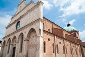 stock photo of vicenza  - Perspective of the cathedral of Vicenza a gothic landmark of the town - JPG