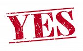 picture of yes  - yes red grunge vintage stamp isolated on white background - JPG