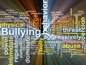 picture of school bullying  - Background concept wordcloud illustration of bullying glowing light - JPG