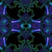 stock photo of viking  - Abstract metallic colorful viking or celtic like pattern made seamless - JPG