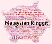 image of ringgit  - Malaysian Ringgit Indicating Foreign Exchange And Words - JPG