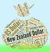 picture of nzd  - New Zealand Dollar Representing Forex Trading And Nzd - JPG