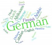foto of dialect  - German Language Representing Wordcloud Germany And Words - JPG