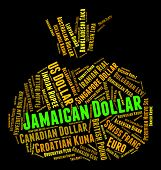 pic of jamaican  - Jamaican Dollar Showing Exchange Rate And Broker - JPG