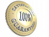 100% Satisfaction Guaranteed Badge