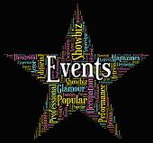 foto of occasion  - Events Star Showing Words Occasion And Ceremony - JPG