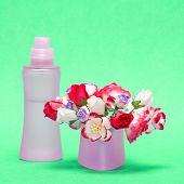image of perfume bottles  - Floral perfume - JPG