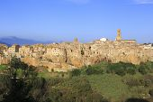 foto of hilltop  - the village of Pitigliano hilltop town - JPG