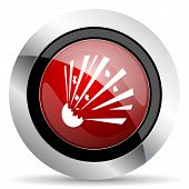 picture of bomb  - bomb red glossy web icon original modern design for web and mobile app on white background  - JPG