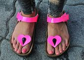Woman Feet In Sandals