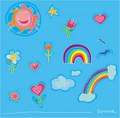 Kids rainbow summer set.