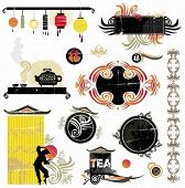 Asian design elements. design elements for chinese new year. To see similar stuff, please visit my gallery