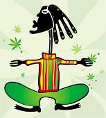 foto of rastaman  - Rastaman with dreadlocks - JPG
