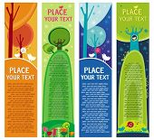 Magical forest banners.  To see similar, please VISIT MY GALLERY.